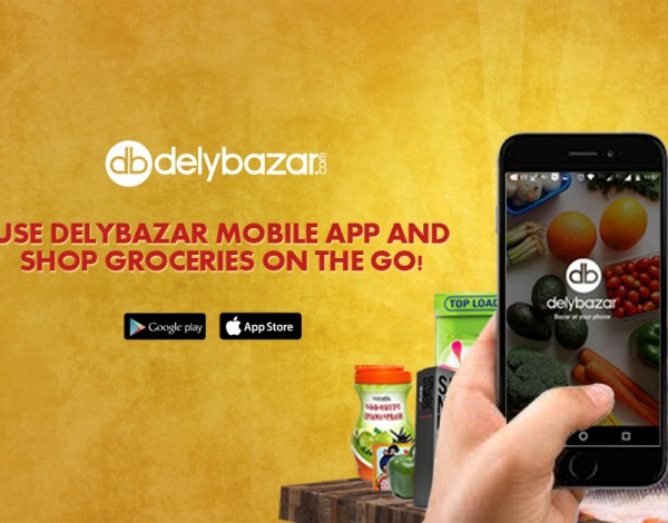 Use Delybazar Mobile app and shop groceries on the go!